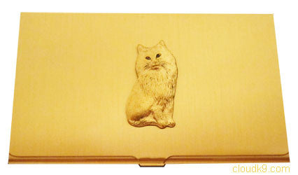 Persian Cat Business Card Case (Long Haired Cat)