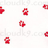 Red Paw Prints Cello Treat Bags