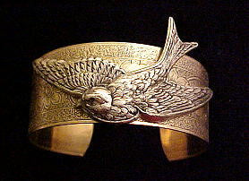 Flying Bird Cuff Bracelet