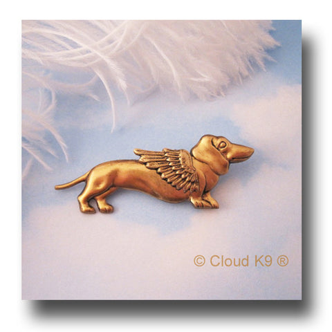 Dachshund Guardian Angel Dog Pin Sympathy Gift