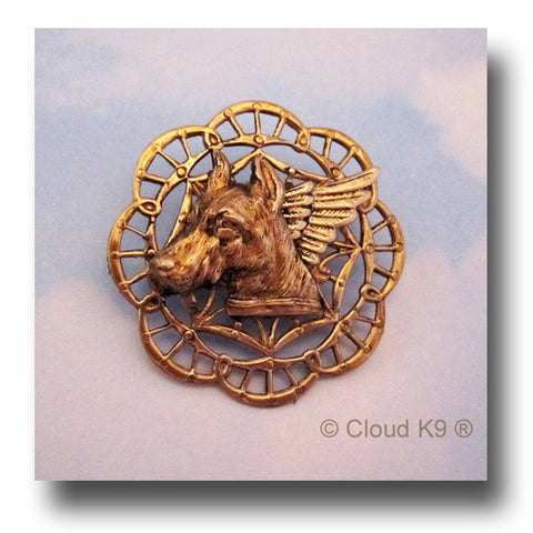 Doberman Pinscher Angel Dog Pin Memorial Keepsake
