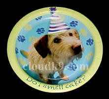 "Dog Party Paper Plates (Small=7"")"