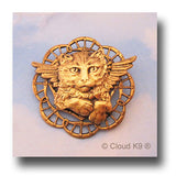 Cat Angel Pin Jewelry