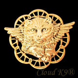 Cat Angel Pin Memorial Jewelry