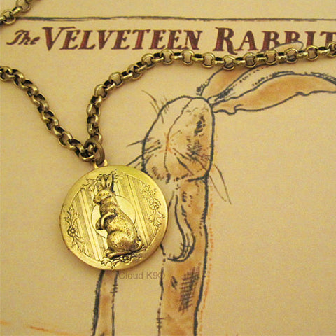 Bunny Rabbit Locket Necklace (Standing Rabbit)