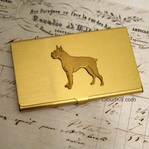 Boxer Business Card Case
