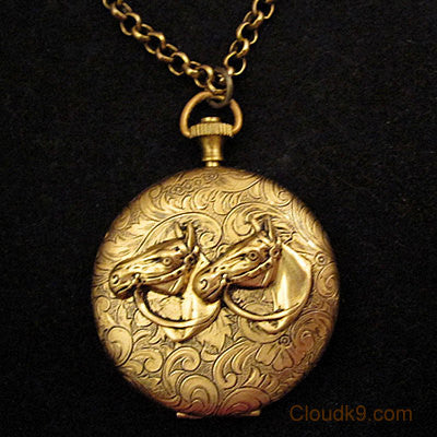 Horse Locket Necklace (LARGE Locket)