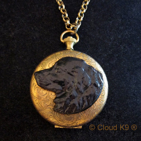 Newfoundland Locket Necklace (LARGE Locket)