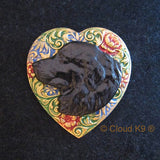 Newfoundland Colorful Heart Brooch Pin