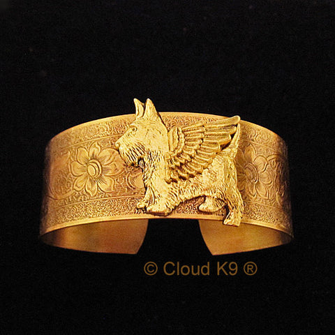 Scottie Angel Dog Cuff Bracelet