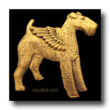 Irish Terrier Angel Pin: Memorial Sympathy Gift