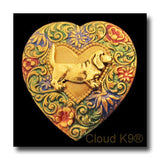 Basset Hound Colorful Heart Brooch Pin