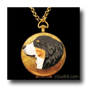 Bernese Mountain Dog Locket Necklace (LARGE Locket)