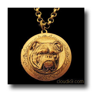 Bulldog Locket Necklace