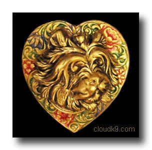 Cairn Terrier Colorful Heart Brooch Pin