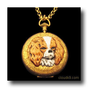 King Charles Spaniel Locket Necklace (LARGE Locket)