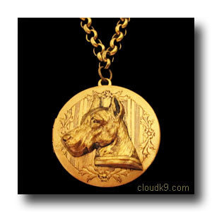 Great Dane Locket Necklace