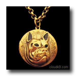 French Bulldog Locket Necklace