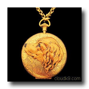 Golden Retriever Locket Necklace (LARGE Locket)
