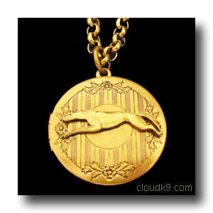 Greyhound Locket Necklace