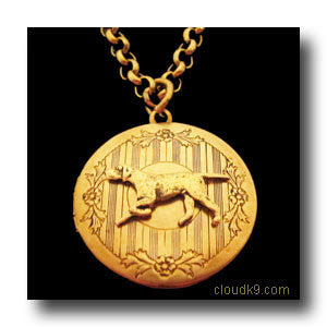 Pointer Dog Locket Necklace