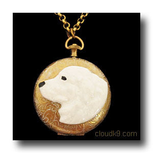 Kuvasz Locket Necklace (LARGE Locket)