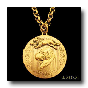 Rhodesian Ridgeback & Lion Locket Necklace