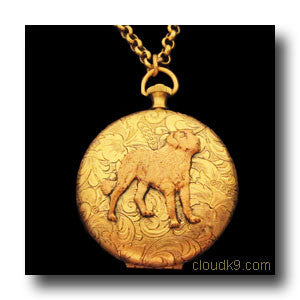 St. Bernard Dog Locket Necklace (LARGE Locket: Saint Bernard)