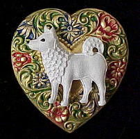 Spitz Colorful Heart Brooch Pin