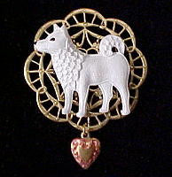 American Eskimo Jewelry Gifts: Brooch Pin