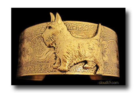 Scottie Dog Cuff Bracelet