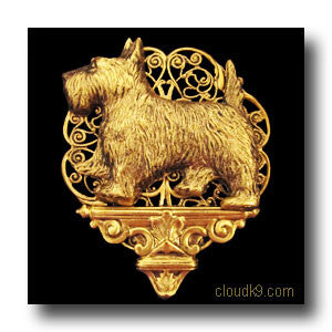 Scottie Pedestal Brooch Pin