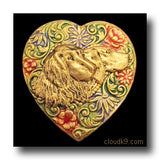Gordon Setter Colorful Heart Brooch Pin