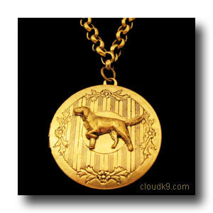 English Setter Locket Necklace