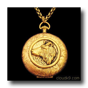 Collie Locket Necklace (LARGE Locket)