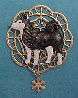 Alaskan Malamute Brooch Pin Jewelry