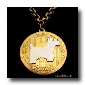 Westie Locket Necklace