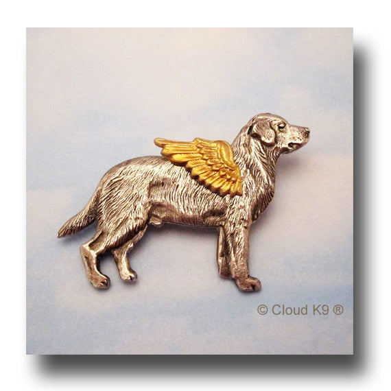 Black Labrador Angel Dog Pin (Black Lab)