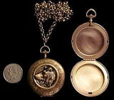 Russian Wolfhound Locket Necklace (LARGE Locket)