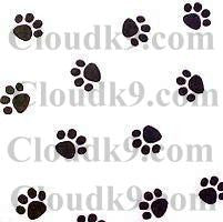 Black Paw Prints Tissue Paper