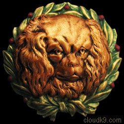 King Charles Spaniel Christmas Wreath Brooch Pin