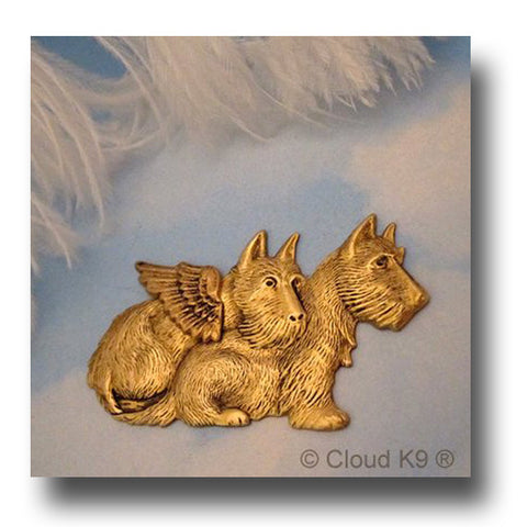 Westie / West Highland White Terrier Angel Pin
