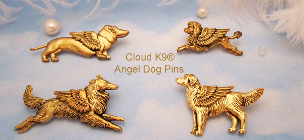 Angel Dog Pins (click here to go to page)