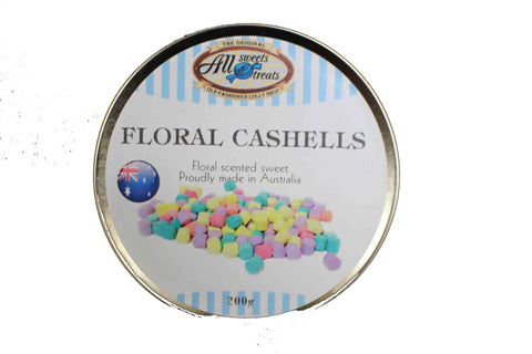 Travel Tins - Floral Cashells [200g tin] - All Sweets and Treats