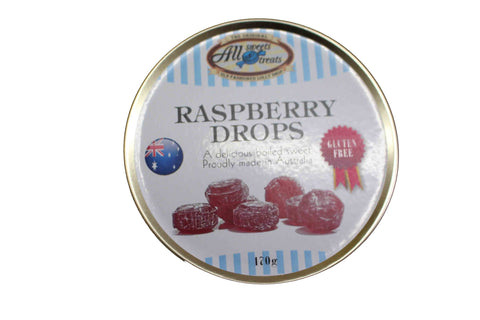 Travel Tins - Raspberry Drops [170g tin] - All Sweets and Treats