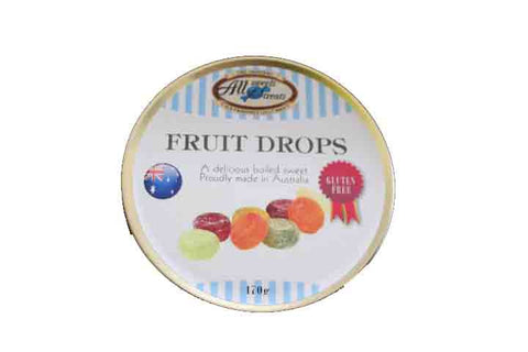 Travel Tins - Fruit Drops [170g tin] - All Sweets and Treats