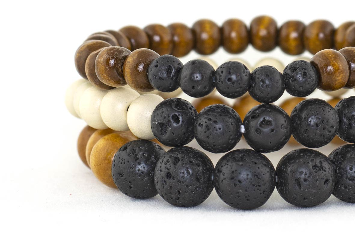 Aromatherapy Bracelet Small, Medium and Large Bead Sizes for Essential Oils