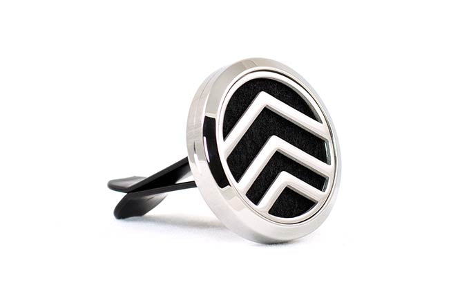 Car Essential Oil Air Freshener Chevron Corked
