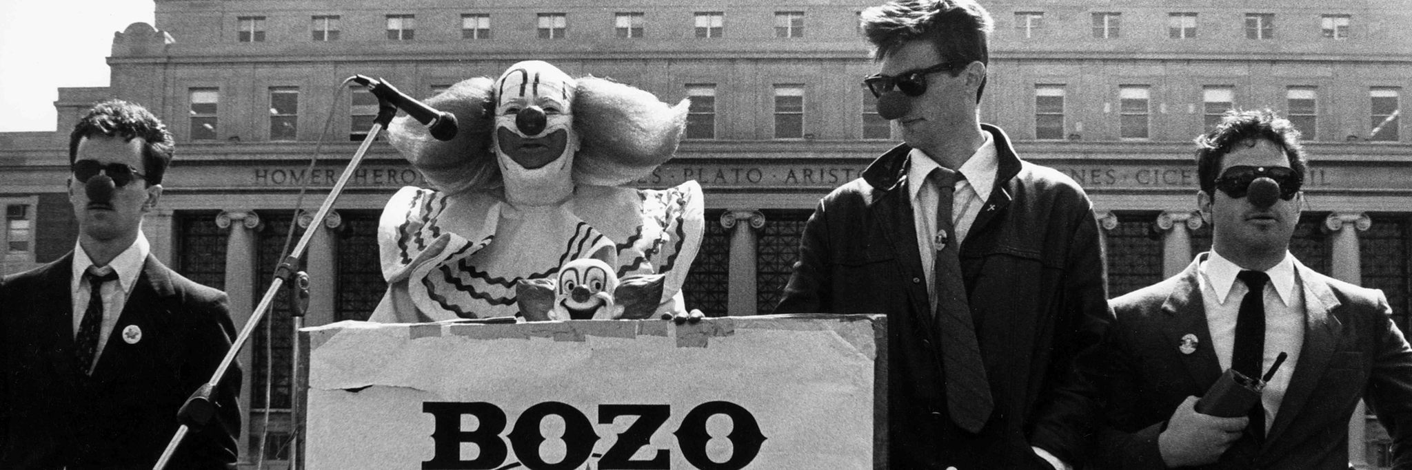 1984 Bozo For President Rally at Columbia