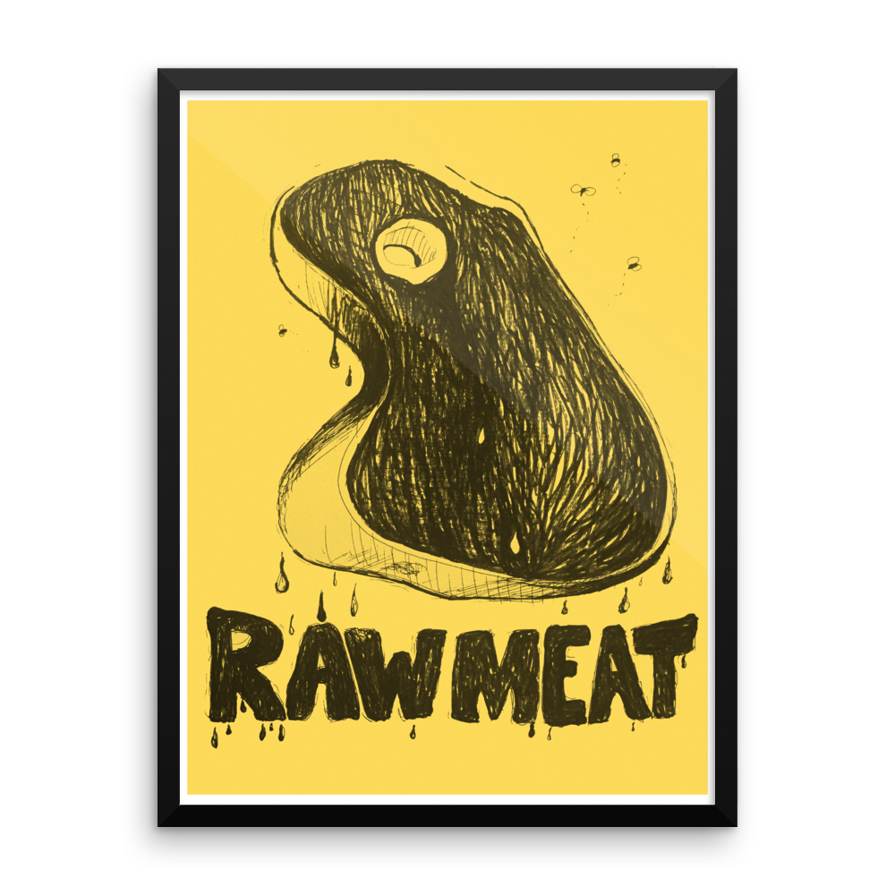 Raw Meat Framed Poster